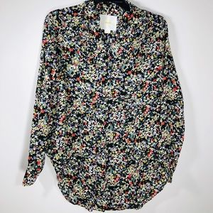 Anthropologie Maeve Floral Button Shirt